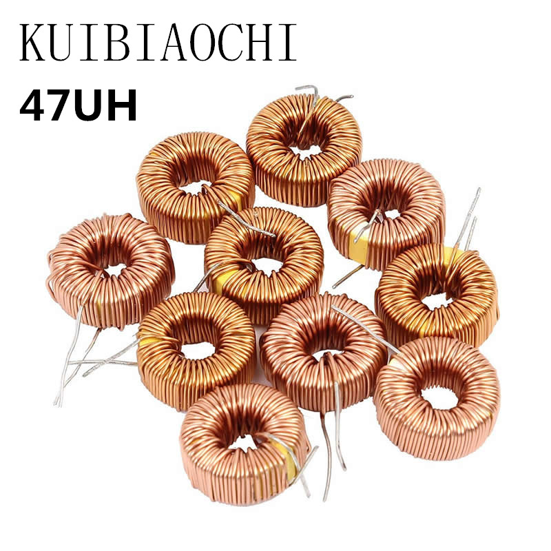 5PCS/lot Toroid core Inductors 3A Winding Magnetic Inductance 47uH Inductor