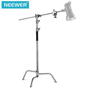 Lighting-Stand Photo-Studio Neewer Heavy-Duty with 4-Feet/1.2-Meters-Hold-Arm Grip-Head-Kit