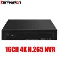 H.265 16CH 4K 8MP 25CH 5MP NVR 4K Output Security Network Video Recorder Full HD ONVIF Alarm Audio 4K NVR Motion detection ONVIF