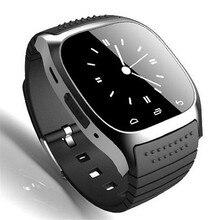 Smart Bluetooth Uhr Smartwatch M26 mit Led-anzeige Barometer Alitmeter Musik-player Schrittzähler für Android OS Handy