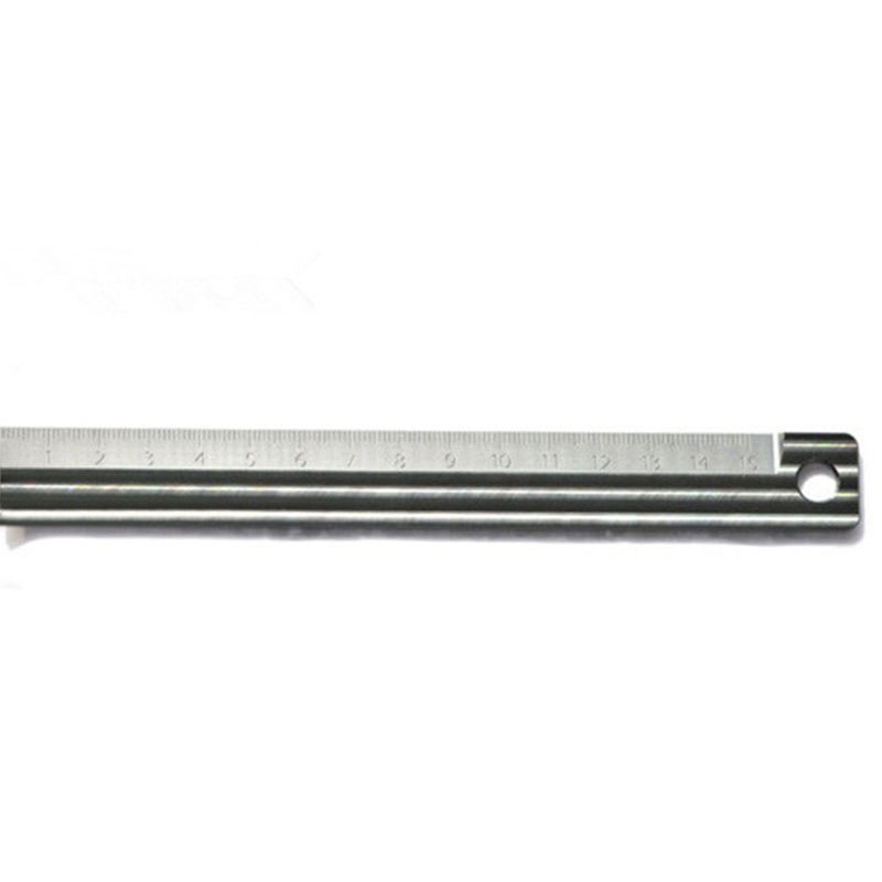 купить EDC Self-defense Tool Titanium Ruler Student Stationery Stationery Tools Multifunction Drawing Ruler Rotary Ruler 15cm онлайн