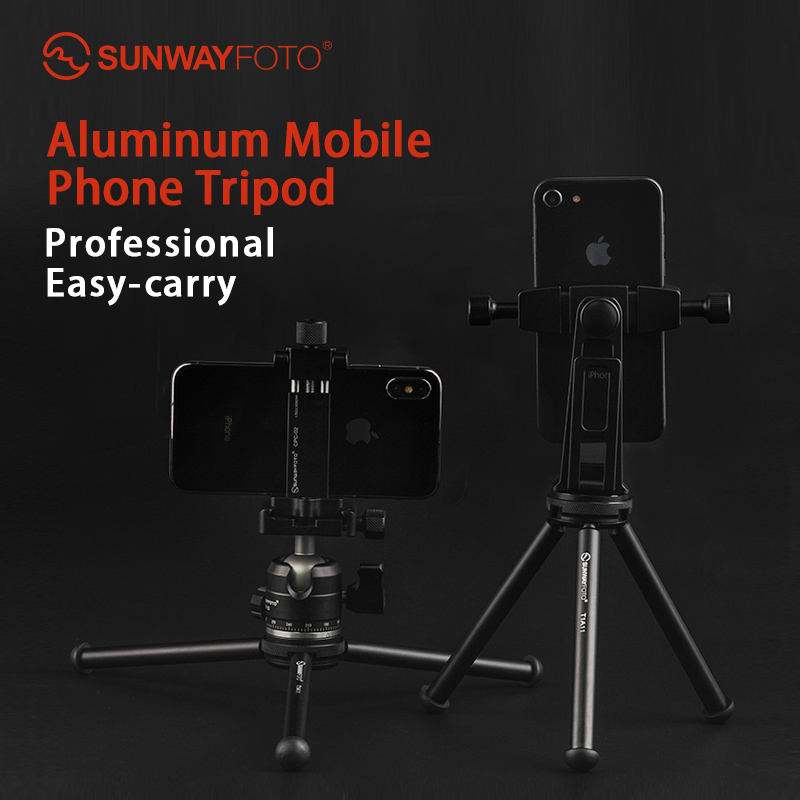 SUNWAYFOTO T1A11 II Profissional Mini Tablet Desk Tripod Stand for Mini Camera Smartphone Tripod DLSR with
