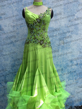 New Competition ballroom Standard dance dress,dance clothing,stage wear,ballom dance wear,Waltz,Ballroom Dance Dress,green