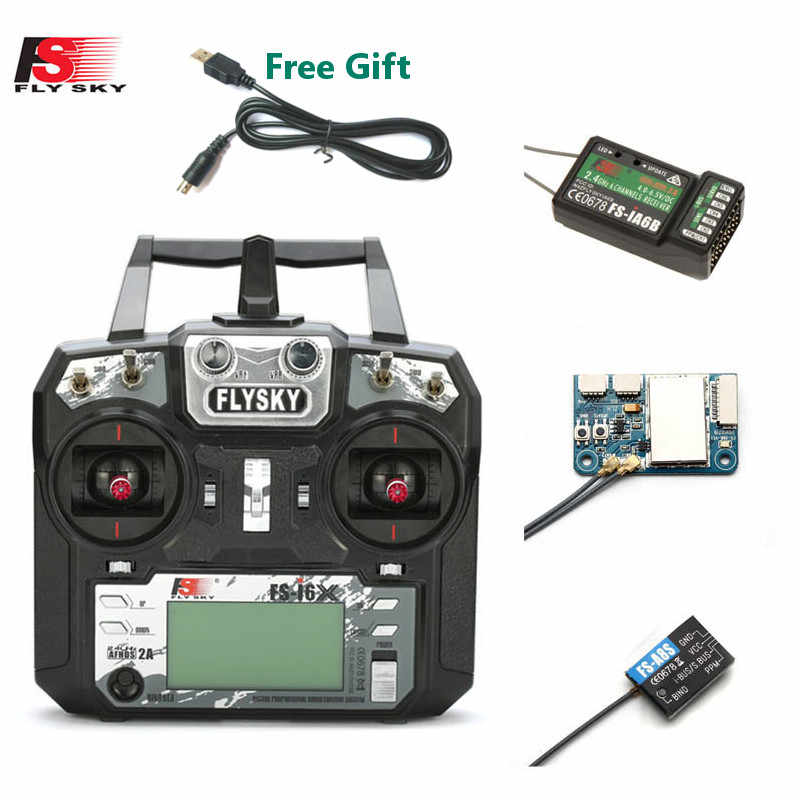 FLYSKY FS-i6X i6X 10CH 2.4GHz AFHDS 2A RC Transmitter With X6B iA6B A8S Receiver for RC Qaud FPV Racing Drone Retailbox