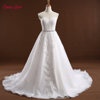 Amdml Wedding Dress Vintage Bohemian Appliques Crystals Belt Wedding Dresses A Line 2017 White Bridal Dress