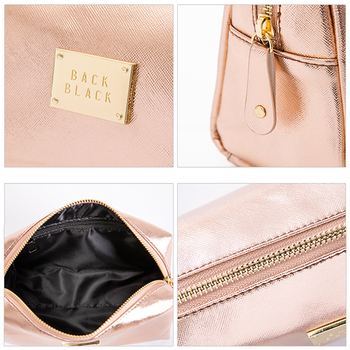 Women Cosmetic Bag For Makeup Pouch Female Portable Beauty Toiletry Travel Organizer Case Ladies Big Gold Silver Makeup Bag 2019 6