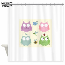 WARM TOUR Owl Friends Pink Decorative Fabric Polyester