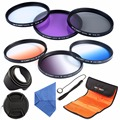 72mm CPL UV FLD Filter Kit Graduated Color Filter Set+Lens Hood&Cap&Case For Canon 700D 1100D 1200D 600D 400D Rebel T3i T2i T4i