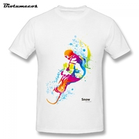 Summer Gentleman Snowboarder Favorite Funny T Shirt Men Male Short Sleeve Cotton Custom Over Size Brand