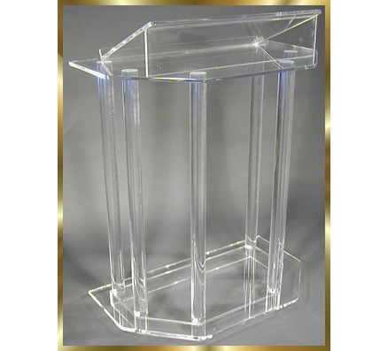 Acrylic Desktop Lectern Acrylic Lectern Stand / Acrylic Podium Pulpit Lectern For Church