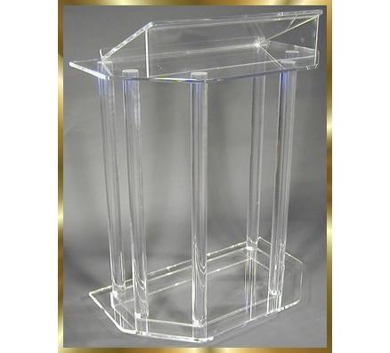 Acrylic Desktop Lectern Acrylic Lectern Stand / Acrylic Podium Pulpit Lectern For Church