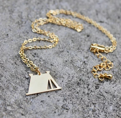 Camping Tent Necklace Adventure Exploring Charm Necklaces Outdoorsy Wilderness Travel Jewelry Factory Price for You YP6461