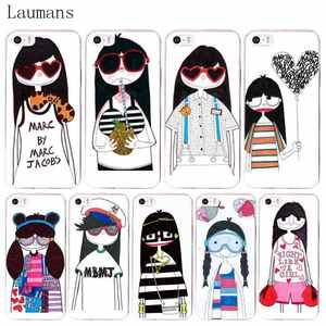 Laumans Marc Jacob Girl Coque Shell Phone Case for Apple iPhone 8 7 6 6S  Plus X 5 5S SE 4S Cover a2ea57978c9a