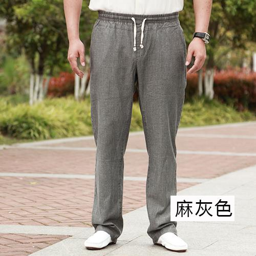 Neue Männer Lose Leinenhose frühjahr Sommer Dünnen Hosen Elastische Baumwolle mode Elastische Taille Taschen Beiläufig plus größe XL-4XL5XL6XL