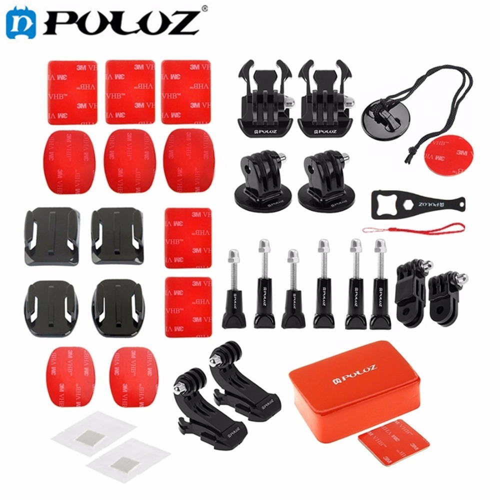 For Go Pro Accessories 53 in 1 Go Pro Accessories Total Ultimate Combo Kit for GoPro HERO5 HERO4 Session HERO 5 4 3 2 1 SJ4000 sj4000 kit accessories sj4000 set accessories sj4000 bundle accessories hot sale