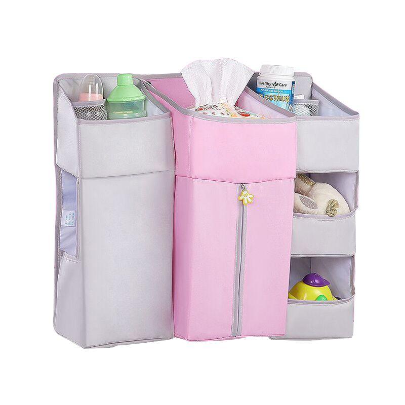Bedding Sets Nursery Organizer Hanging Diaper Organization Storage For Baby Multi-Purpose Diaper Bedside Storage