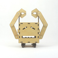 Modern Minimalist DIY Robot Tissue Box Creative Wooden Crafts Gifts Household Living Room Bathroom Car Roll Paper Tissue Pumping
