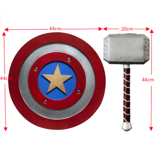 Thor Mjolnir Cosplay Costume Accessory Hammer Captain America Endgame Weapon Carnival Party Props Halloween