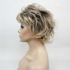 Image 4 - StrongBeauty Womens Synthetic Wigs Layered Short Straight Pixie Cut Bloned Mix Natura Full Wig