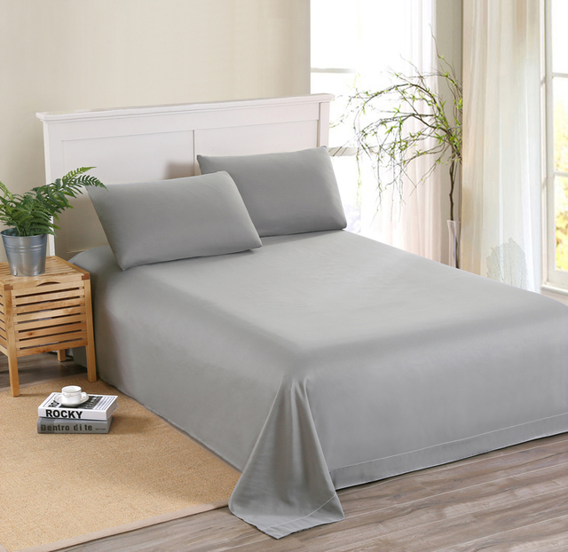 MECEROCK Solid Color Sanding Bedding Set Flat Sheet and Pillowcase Factory Hot Sale Bed Linens Twin/Twin XL/Full/Queen/King Size