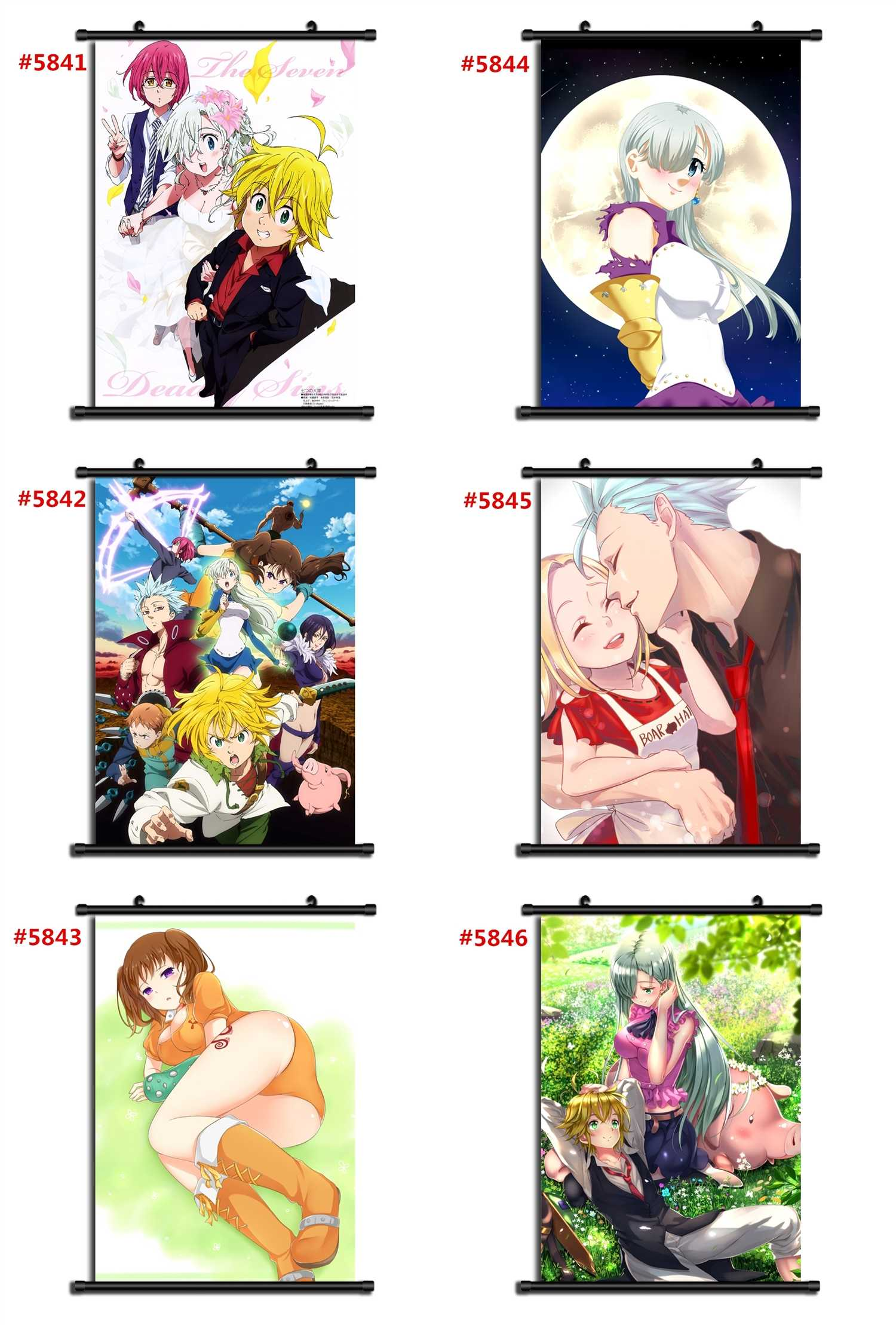 Nanatsu no Taizai Anime manga wall Poster Scroll