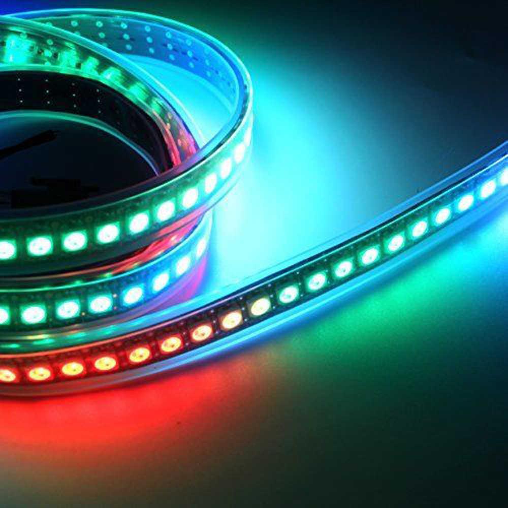 Ws2812 ws2812b taśmy led światło 60 pikseli/m 144 pikseli/m inteligentny indywidualnie adresowane RGB WS2812 IC taśmy led 5050 string lampy 5 m