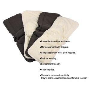 Image 3 - [Littles & Bloomz] 10 шт Многоразовые моющиеся вкладыши для карманных подгузников из микрофибры бамбуковый угольный вкладыш