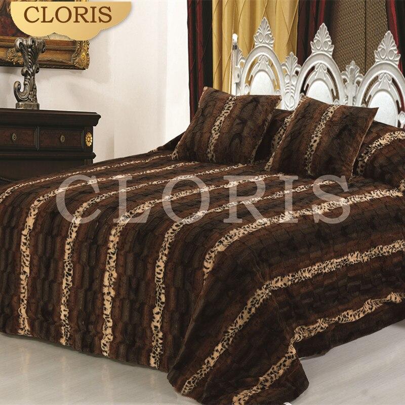 CLORIS Hot Prodej teplý komfortní tlusté postele přikrývky v ložní soupravě saténové povlečení povlečení povlečení duvetové kryty velikost pro lůžko