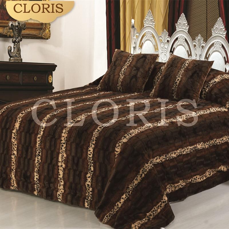 CLORIS offre spéciale chaud confortable épais couvre-lits couette dans la literie ensemble Satin linge de lit couvre-lits housse de couette King Size pour lit