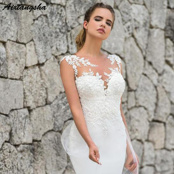 Mermaid Wedding Dresses 2019 abendkleider Plus size Appliques Lace Custom Made Bridal Dress Wedding Gown vestidos de noiva