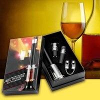 Cocina Comedor Bar de Presión de Aire Rojo Botella de Vino Abridor de Regalo Pasador de fijación Bombas Corcho Sacacorchos Out Verter Tapón de Vacío Tapón caja