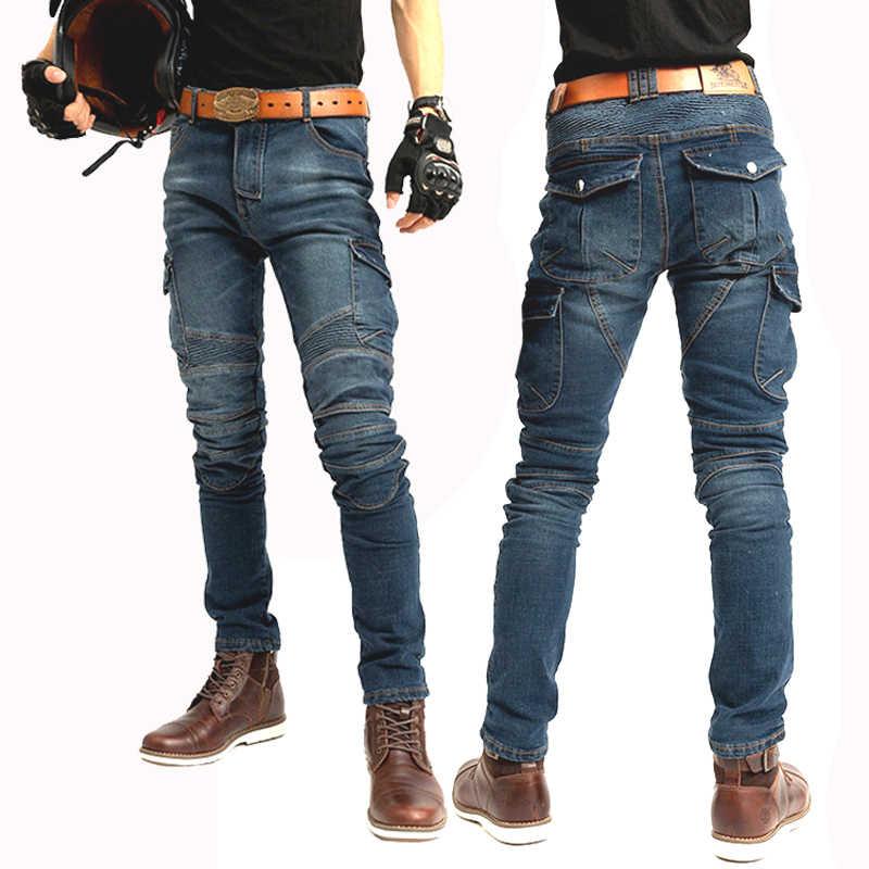Uomini i jeans Da Moto Featherbed Jeans La Versione Standard Auto Corsa Pantaloni Pantaloni moto equipaggiamento protettivo