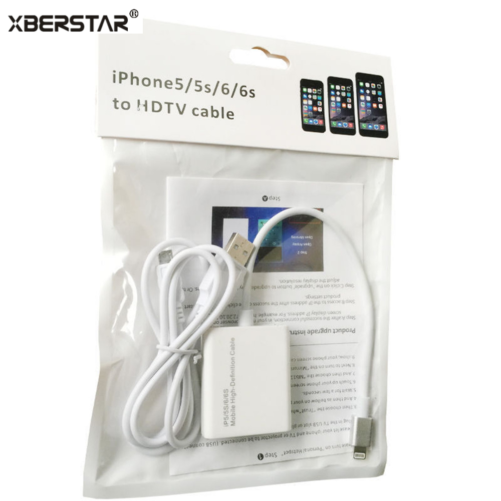 8 Pin Quick Charging To HDMI Cable HDTV AV Adapter For ios Pad Mini for iPhone