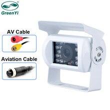 GreenYi белый камера заднего вида для грузовика Heavy Duty 18 светодиодный ИК Ночное видение Водонепроницаемый автомобиля камера заднего вида для п...