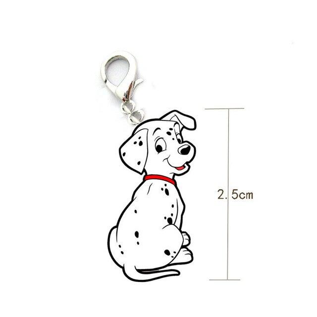 Nuovo Dalmata forma Dog Tag Metallo Pet ID Accessori Collare Collana Ciondolo Ap
