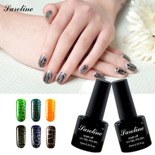 Saroline 12 lucky color fashion led lamp nail Crack nail polish crackle UV gel nail polish 3d nail art gel uv gel nagellak
