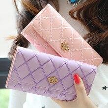 New famous brand women wallets and purse pu Leather Clutch bag carteira Long portefeuille femme Coin Purse geldtasche monederos