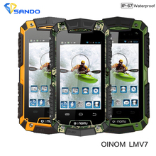 Original New V7 OINOM LMV7 IP67 rugged Waterproof phone MTK6572 Dual Core Android Gorilla glass 3G GPS 3600mAH 5MP shockproof