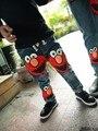 2016 новая зимняя детская одежда для детей мальчиков печати джинсы брюки плюс толстый бархат джинсы
