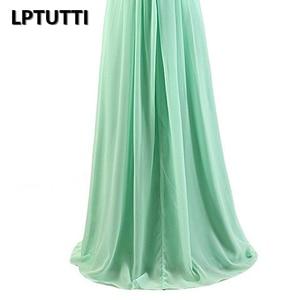 Image 5 - Lptutti strapless chiffon plus size novo para as mulheres elegante data cerimônia festa de formatura formal vestido de gala luxo longo vestidos de noite