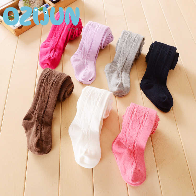 New arrival 2019 baby girls cotton solid color  pantyhose children  tights toddler baby 0-3 Years 3-4 Years stockings