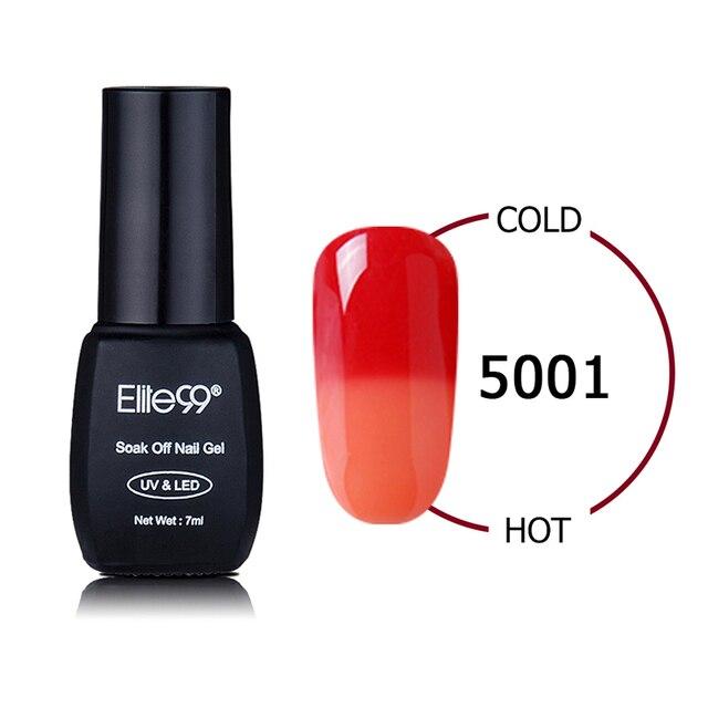 Elite99 Stimmung Temperatur Farbwechsel Nagellack Tränken Weg Vom LED UV Temperatur Chamäleon Nagelgel Lacqure Nagelkunstwerkzeuge 7 ml