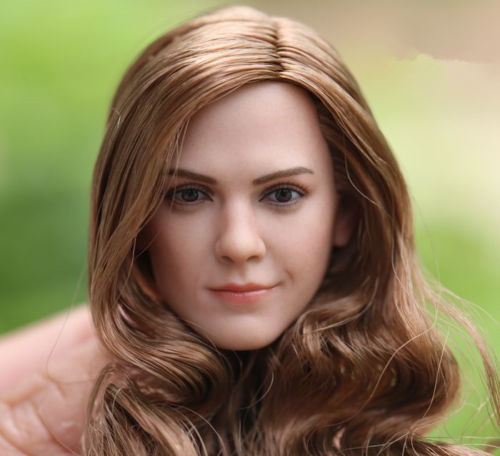1 6 Scale Hermione Emma Watson Head Sculpt W Long Curls Hair F 12 39 39 Doll in Action amp Toy Figures from Toys amp Hobbies