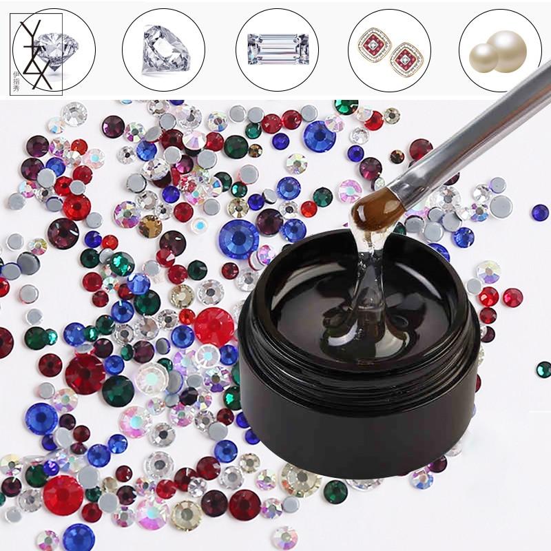 Detail Feedback Questions about YiZhiXiu 1pcs Sticky Rhinestones UV Gel  Soak Off Nail Polish Varnish Lacquer Manicure Paste Crystal Pearl Metal  Line Charm ... 81f4d9ddb865