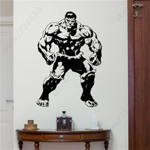 Hulk Poster Da Parete Decalcomania Superhero The Advengers Film Vinile Adesivo Fumetti Casa Boy Room Interior Decoration Nursery Arte Murale(China)