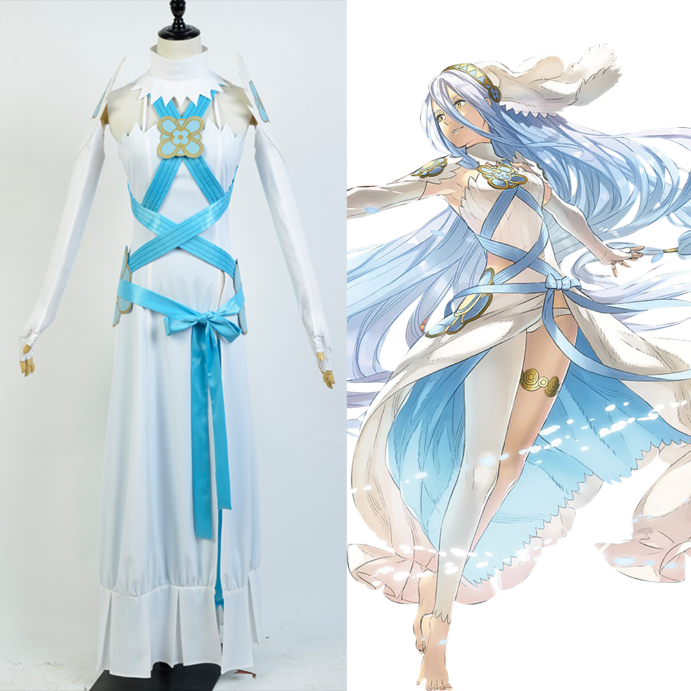Fire Emblem If Fates Birthright Aqua Dress Cosplay Costume For Women Girls