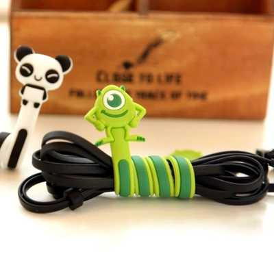 Selectable Cartoon Headphone Earphone Cable Wire Organizer Cord Holder USB Charger Cable Winder For iphone samsung Smartphone