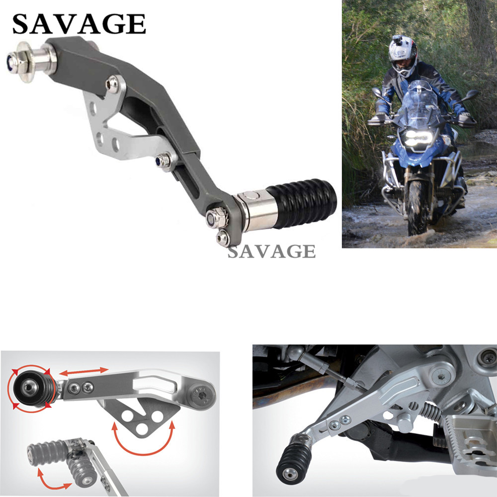 1 Set Motorcycle CNC Adjustable Gear Shift Lever Pedals For BMW R1200GS LC 2013-2016 R1200GS ADV 2014-2016 Aluminium Gray цена 2017