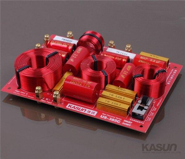 1 pcs 3 voies Crossover US-385C diviseur de fréquence filtre pour HIFI amplificateur 230 w