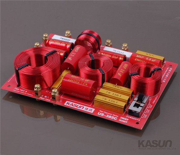 3 way Crossover US-385C frequency divider filter for HIFI amplifer 230W adjustable bass treble two divider hifi module game pwm modulation digital amplifier for speaker audio crossover repair parts